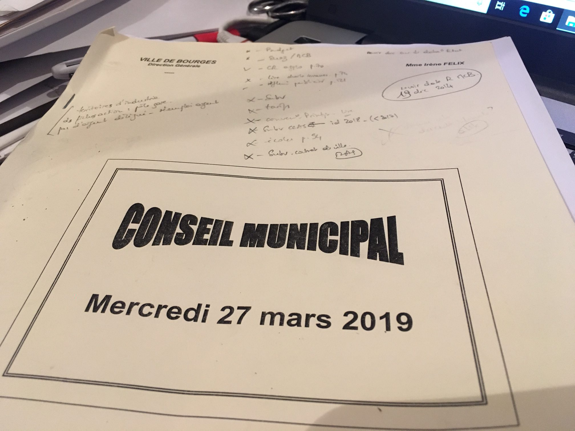 Bourges, budget 2019